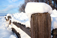 A weathered wood fence makes for photographic material near a parking lot on the Horicon Marsh, Wisconsin.