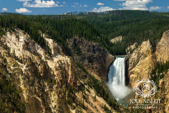 Yellowstone Falls and Valley, Yellowstone National Park